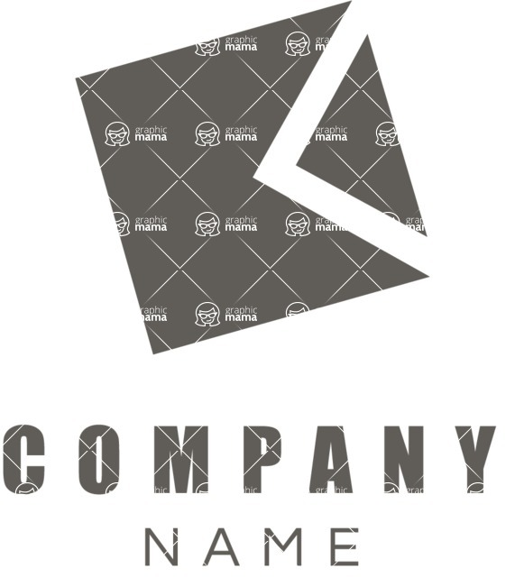 Business Logo Templates - vector graphics in a pack from GraphicMama - Company logo cube black