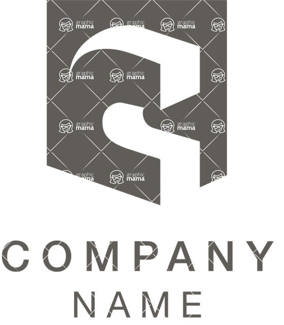 Business Logo Templates - vector graphics in a pack from GraphicMama - Company logo letter black