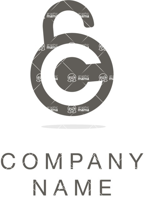 Business Logo Templates - vector graphics in a pack from GraphicMama - Business logo lock black