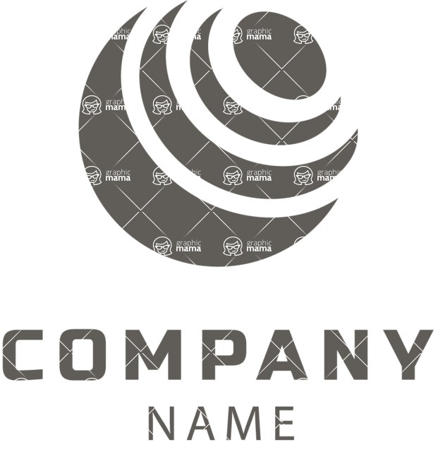 Business Logo Templates - vector graphics in a pack from GraphicMama - Company logo planet black