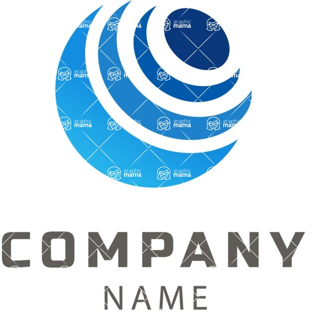 Business Logo Templates - vector graphics in a pack from GraphicMama - Company logo planet color