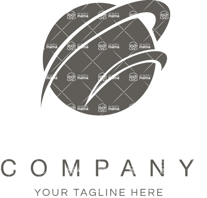 Business Logo Templates - vector graphics in a pack from GraphicMama - Business logo planet black