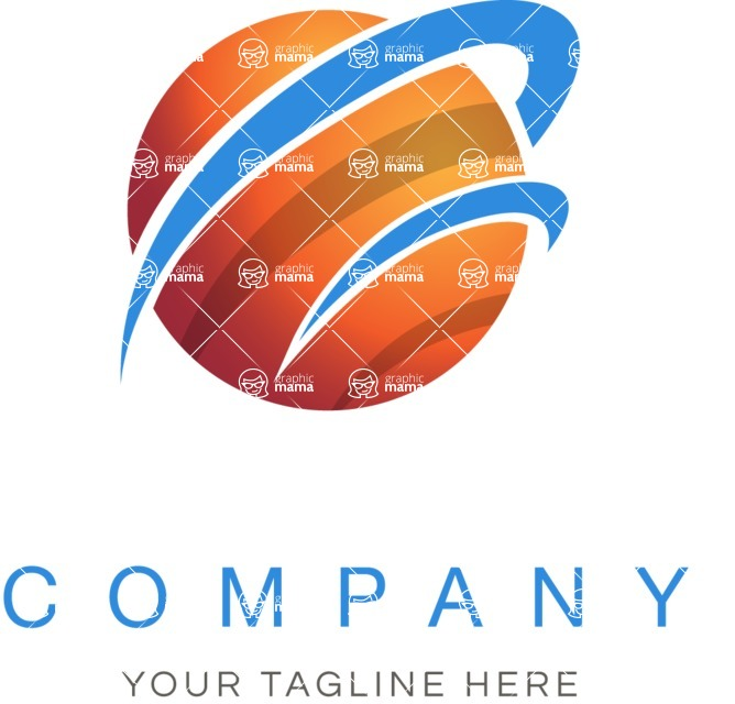 Business Logo Templates - vector graphics in a pack from GraphicMama - Business logo planet color