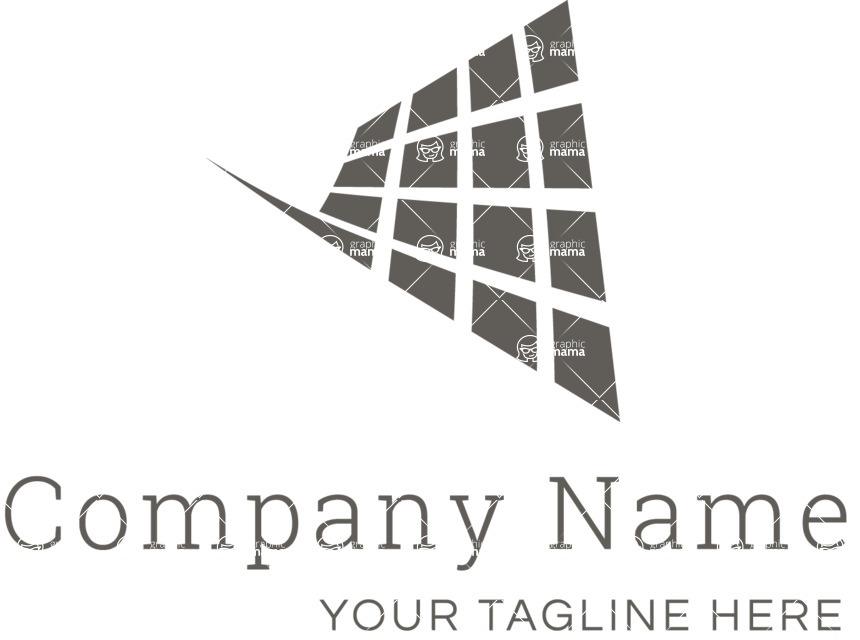 Business Logo Templates - vector graphics in a pack from GraphicMama - Business logo net black