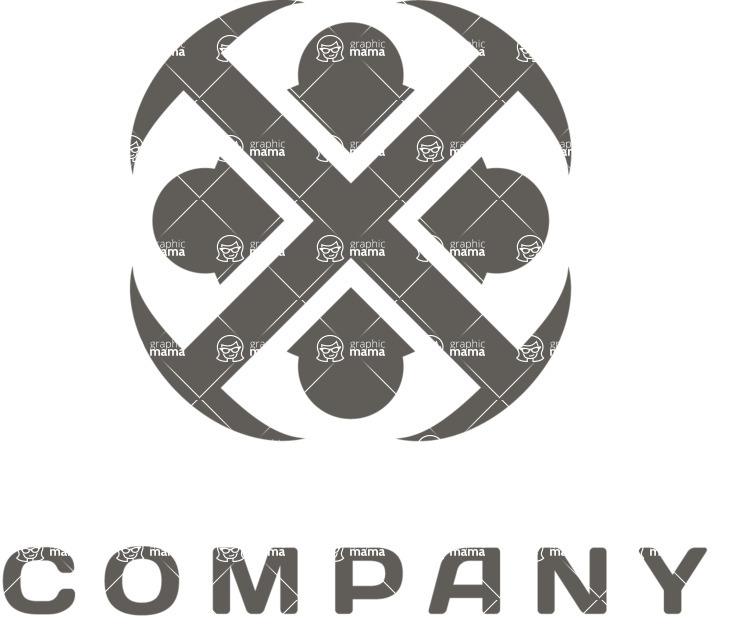 Business logo rosette black