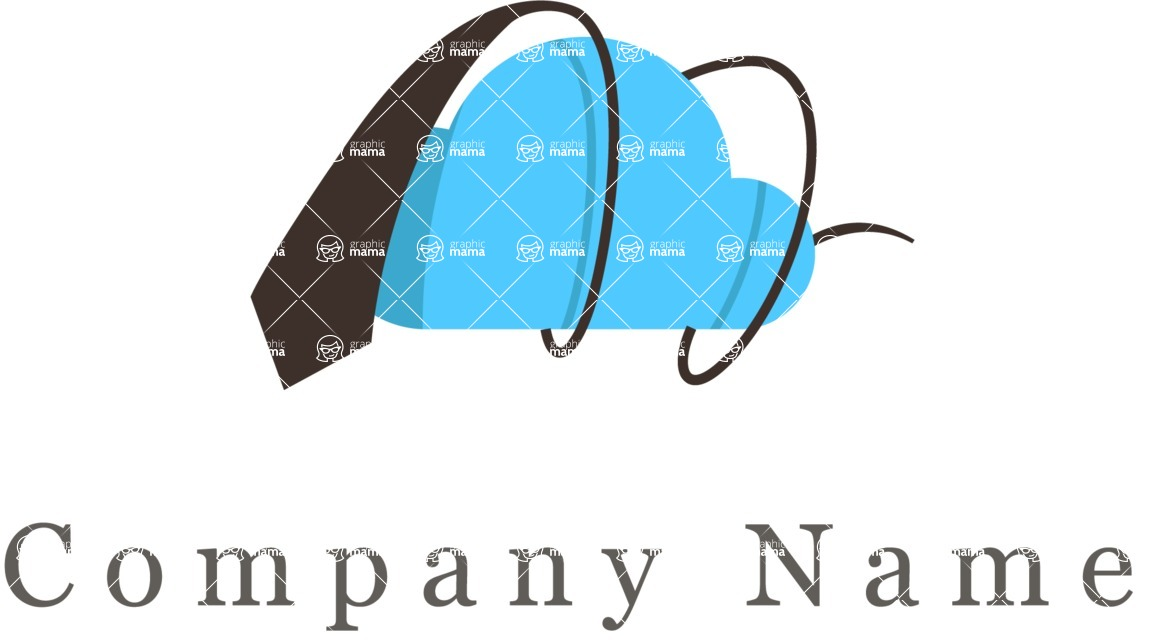 Business Logo Templates - vector graphics in a pack from GraphicMama - Business cloud logo color