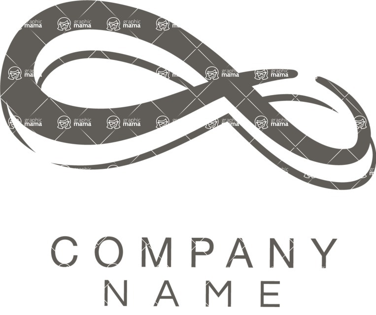 Business Logo Templates - vector graphics in a pack from GraphicMama - Company logo infinity black