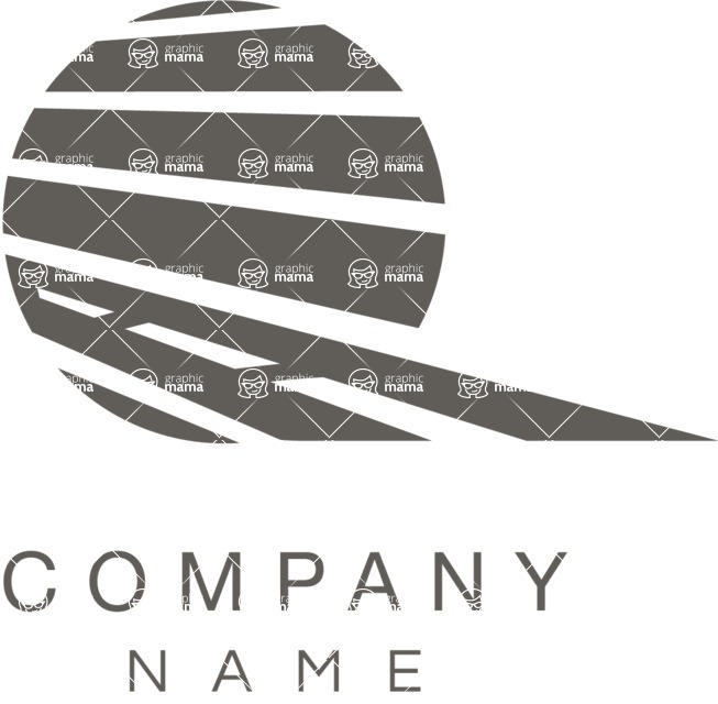 Business Logo Templates - vector graphics in a pack from GraphicMama - Business logo transportation black