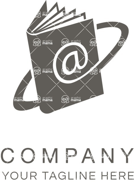 Company logo e book black