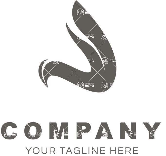 Business Logo Templates - vector graphics in a pack from GraphicMama - Company logo curve black