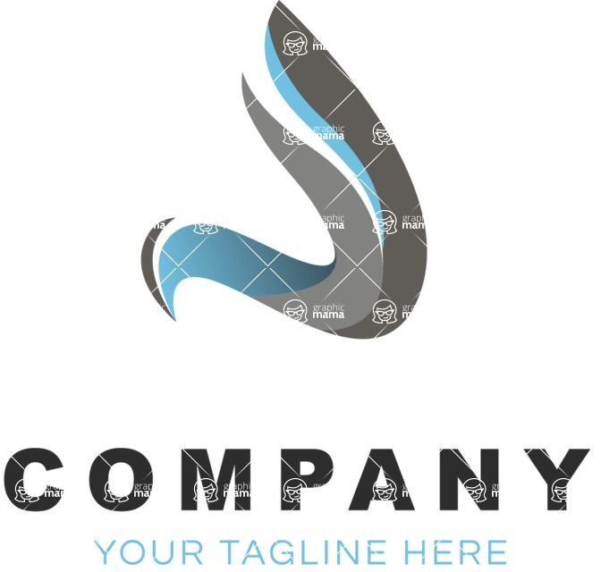 Business Logo Templates - vector graphics in a pack from GraphicMama - Company logo curve color