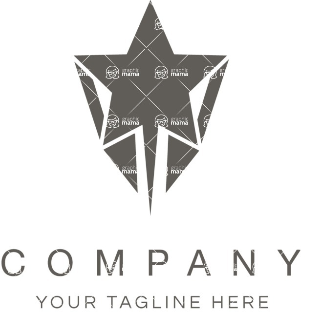 Business Logo Templates - vector graphics in a pack from GraphicMama - Business logo star black