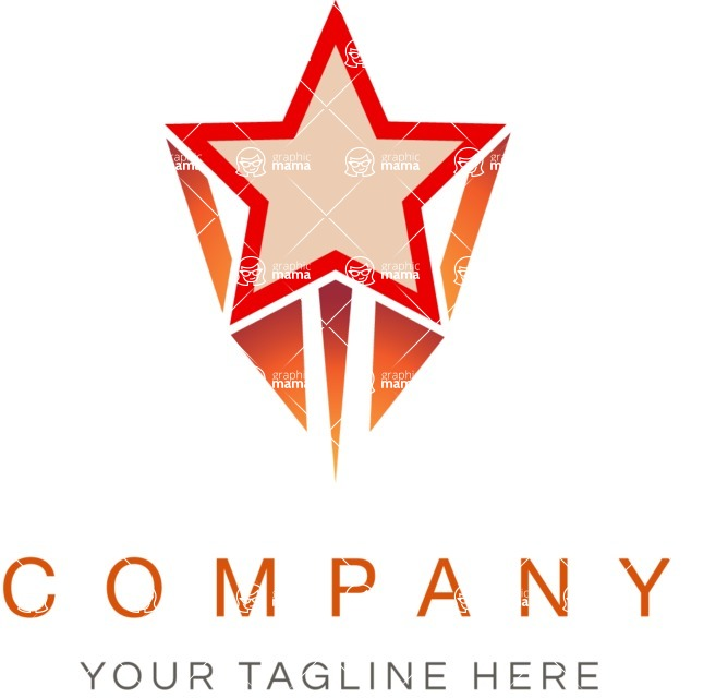 Business logo star color