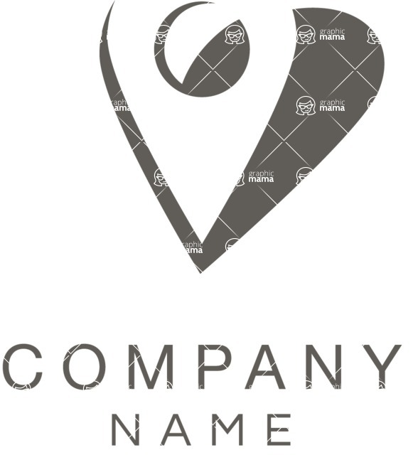 Business Logo Templates - vector graphics in a pack from GraphicMama - Location pin logo black and white