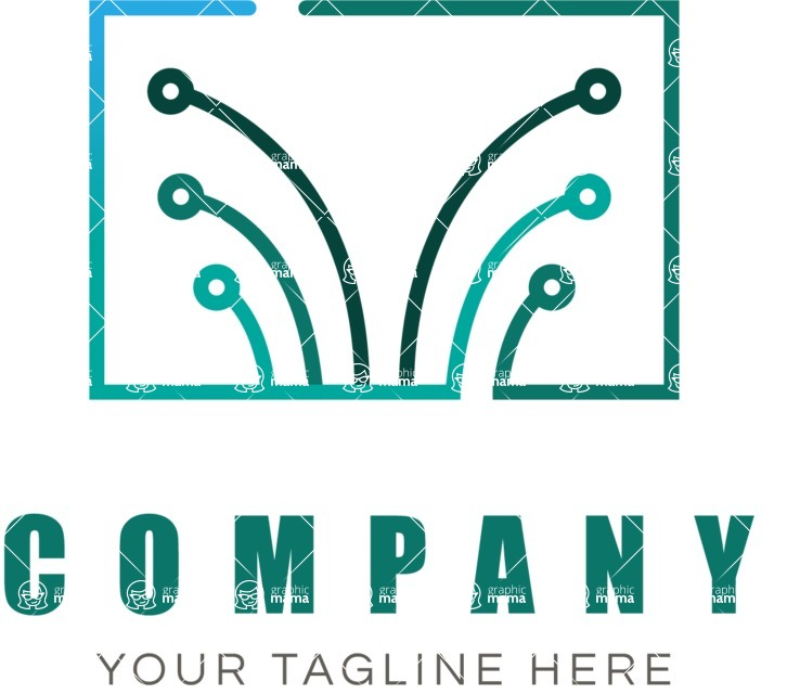 Business Logo Templates - vector graphics in a pack from GraphicMama - Tech business logo color