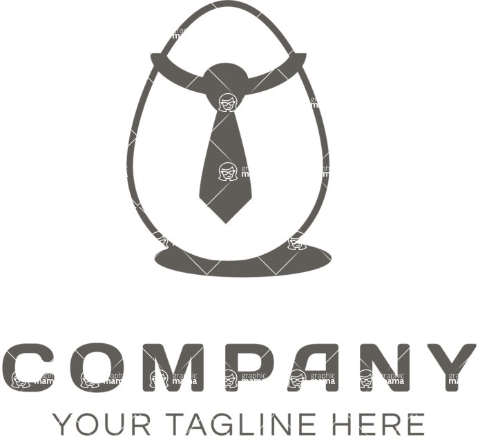 Business Logo Templates - vector graphics in a pack from GraphicMama - Business logo egg black
