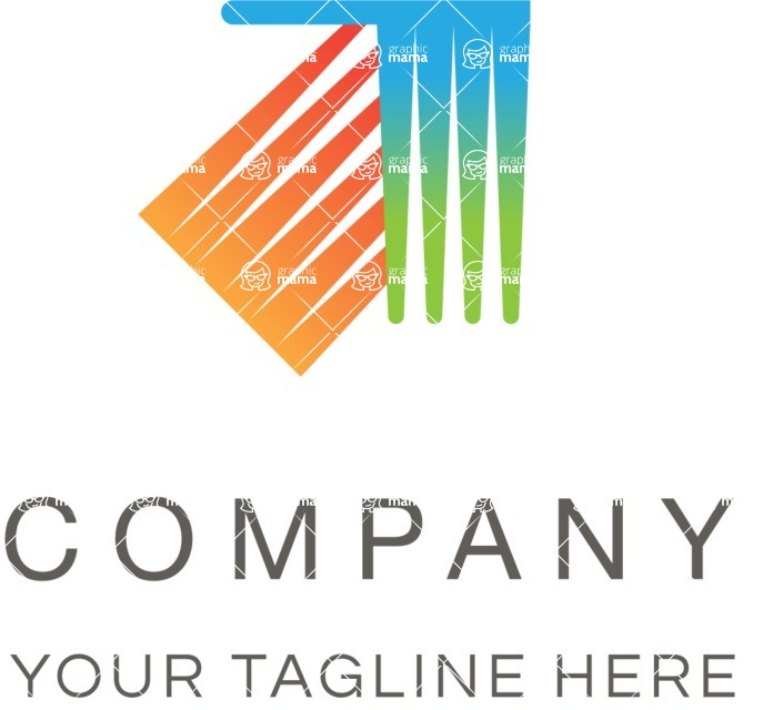 Business Logo Templates - vector graphics in a pack from GraphicMama - Arrow company logo color