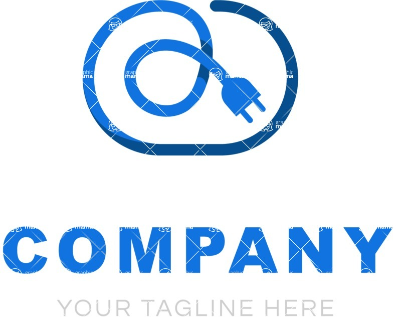 Business Logo Templates - vector graphics in a pack from GraphicMama - Electrical company logo color