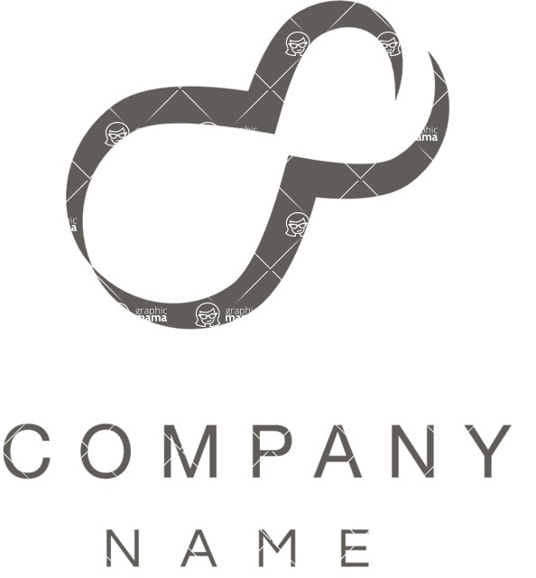 Business Logo Templates - vector graphics in a pack from GraphicMama - Business logo organic shape black