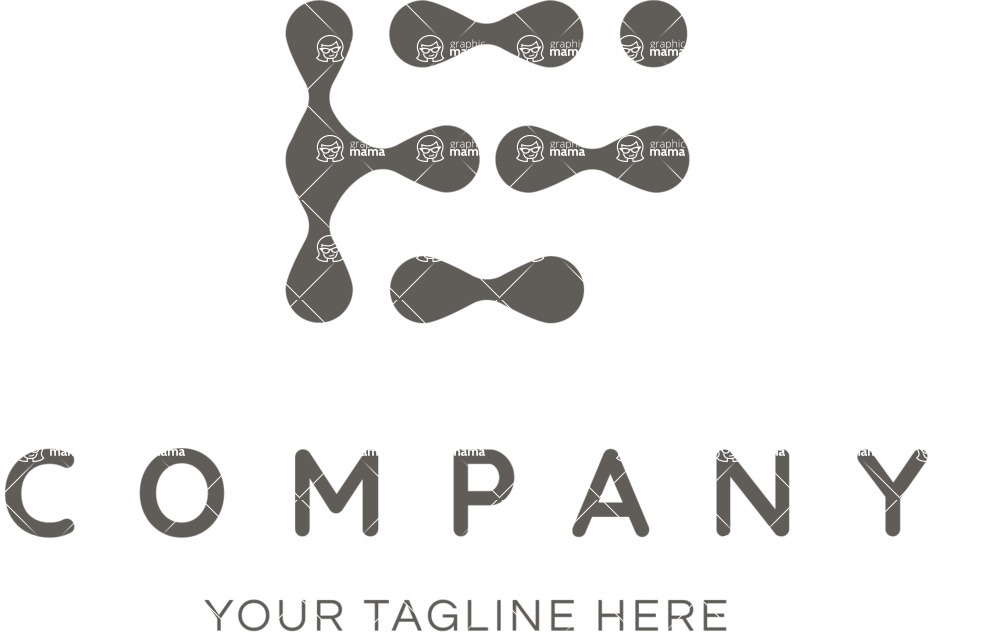 Business Logo Templates - vector graphics in a pack from GraphicMama - Company logo drops black