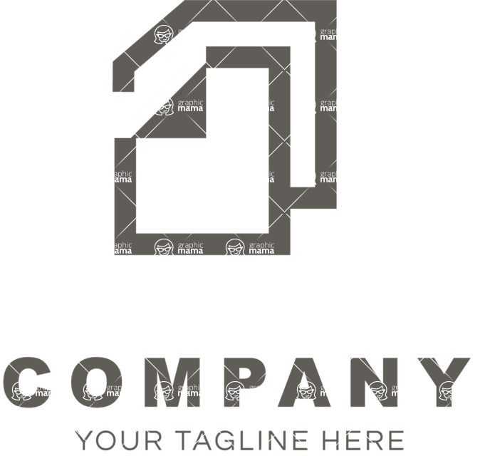 Business Logo Templates - vector graphics in a pack from GraphicMama - Company logo docs black