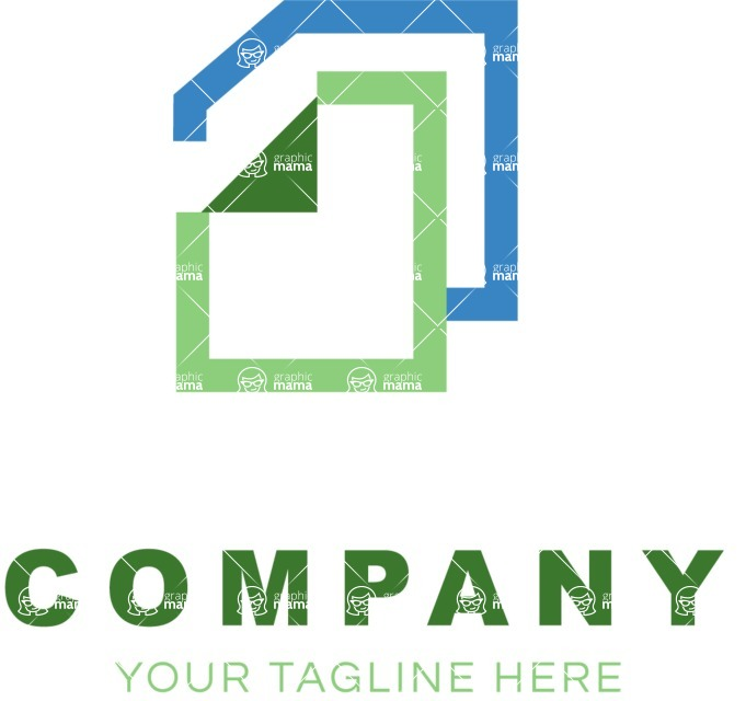 Business Logo Templates - vector graphics in a pack from GraphicMama - Company logo docs color