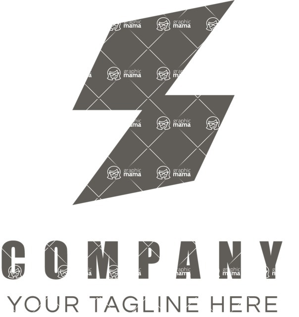 Business Logo Templates - vector graphics in a pack from GraphicMama - Rhomboid logo black and white