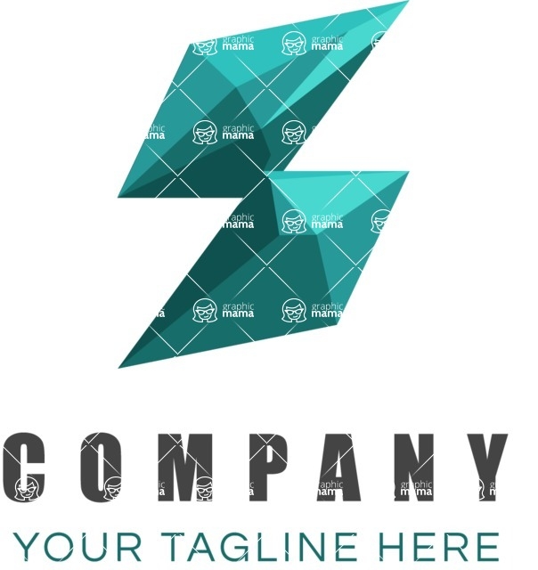 Business Logo Templates - vector graphics in a pack from GraphicMama - Rhomboid logo color