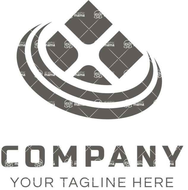 Business Logo Templates - vector graphics in a pack from GraphicMama - Business logo window black