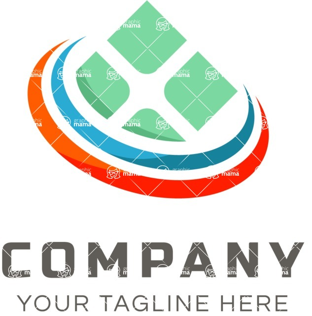 Business Logo Templates - vector graphics in a pack from GraphicMama - Business logo window color