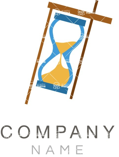 Business Logo Templates - vector graphics in a pack from GraphicMama - Hourglass business logo color