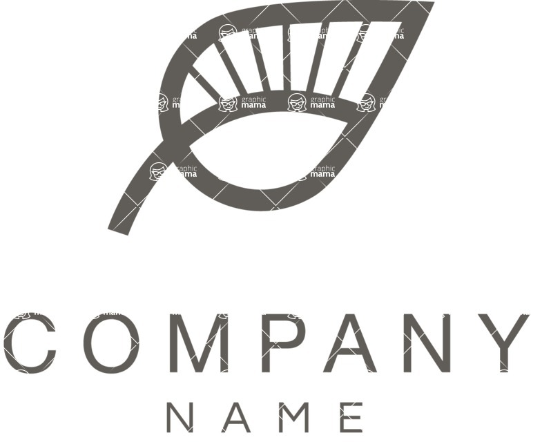 Business Logo Templates - vector graphics in a pack from GraphicMama - Company logo eco black