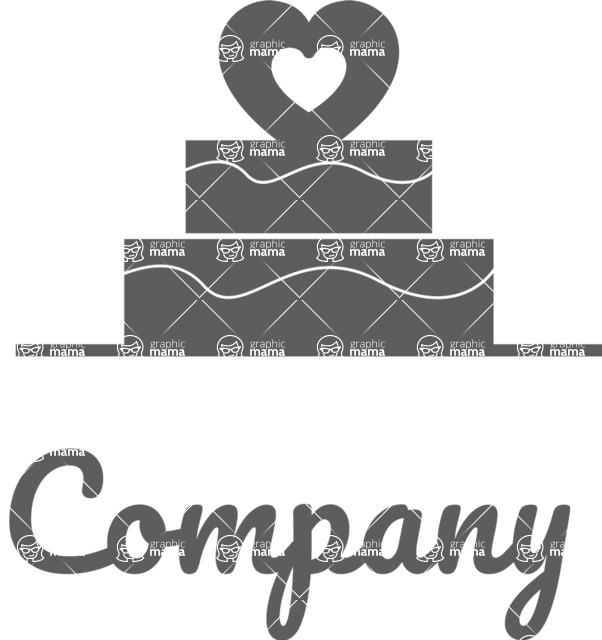 Business Logo Templates - vector graphics in a pack from GraphicMama - Cake company logo black