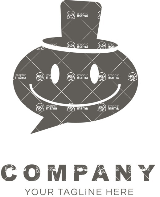 Business Logo Templates - vector graphics in a pack from GraphicMama - Business logo smiley black