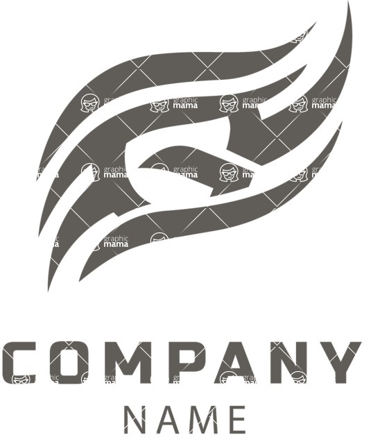 Company logo waves black