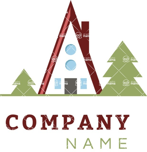 Business Logo Templates - vector graphics in a pack from GraphicMama - Business logo mountain color