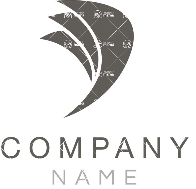 Business Logo Templates - vector graphics in a pack from GraphicMama - Company logo wings black