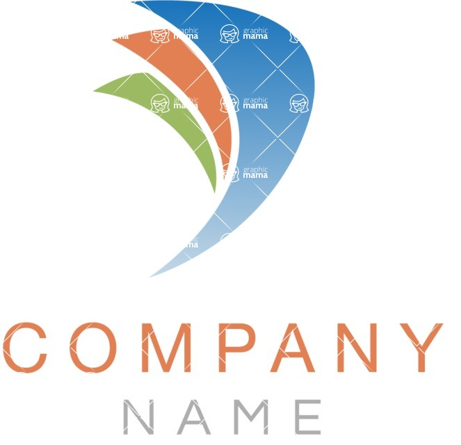 Business Logo Templates - vector graphics in a pack from GraphicMama - Company logo wings color