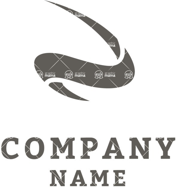 Business Logo Templates - vector graphics in a pack from GraphicMama - Curve company logo black