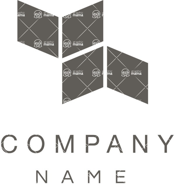 Business Logo Templates - vector graphics in a pack from GraphicMama - Company logo squares black