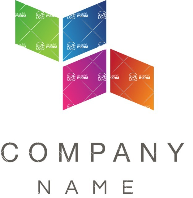 Business Logo Templates - vector graphics in a pack from GraphicMama - Company logo squares color