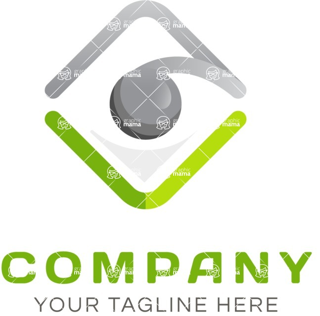 Business Logo Templates - vector graphics in a pack from GraphicMama - Fresh logo company color