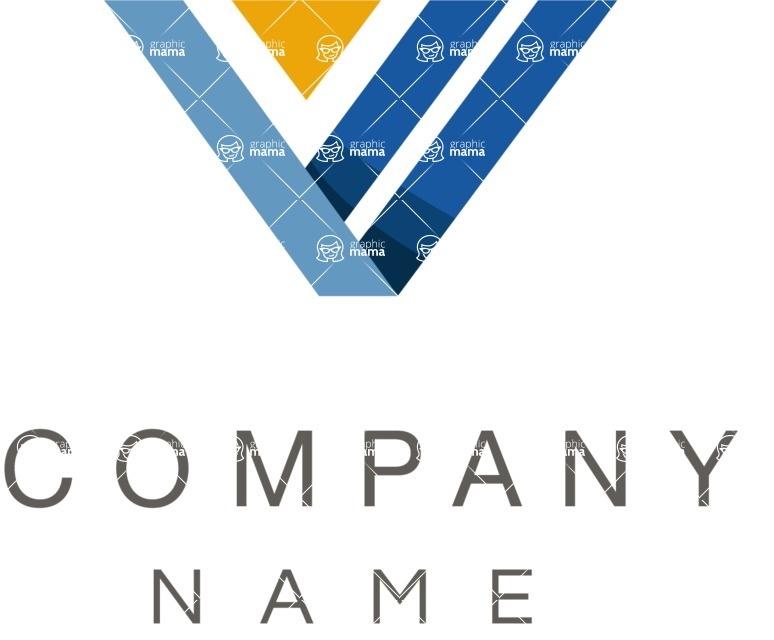 Business Logo Templates - vector graphics in a pack from GraphicMama - V shape logo company color