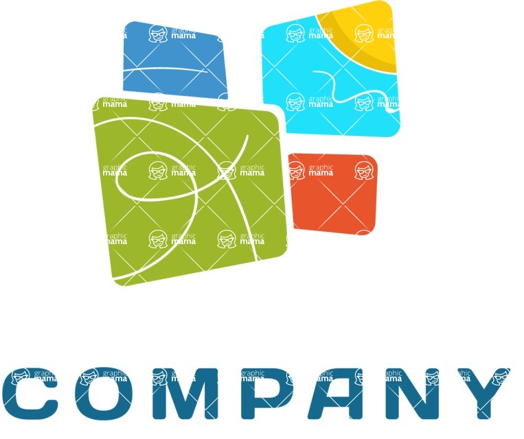 Business Logo Templates - vector graphics in a pack from GraphicMama - Creative company logo color