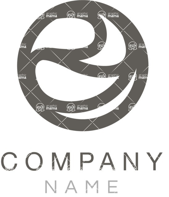 Business Logo Templates - vector graphics in a pack from GraphicMama - Sphere company logo black