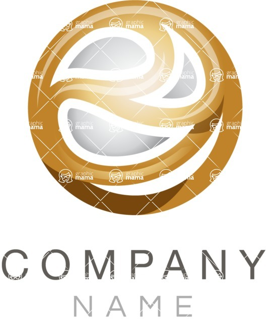 Business Logo Templates - vector graphics in a pack from GraphicMama - Sphere company logo color