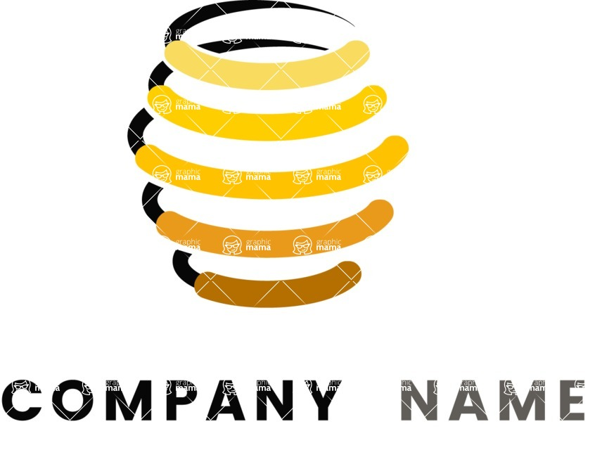 Business Logo Templates - vector graphics in a pack from GraphicMama - Honey business logo color