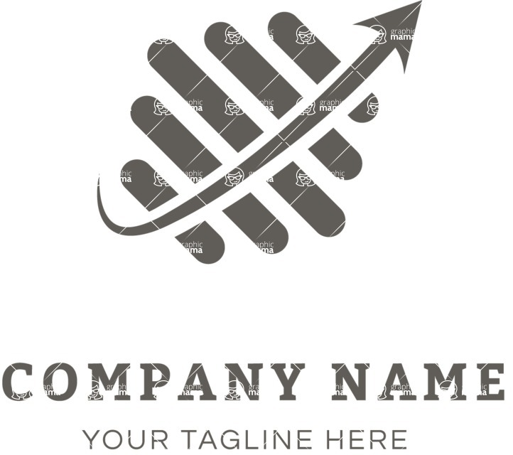 Business Logo Templates - vector graphics in a pack from GraphicMama - Dynamic business logo black