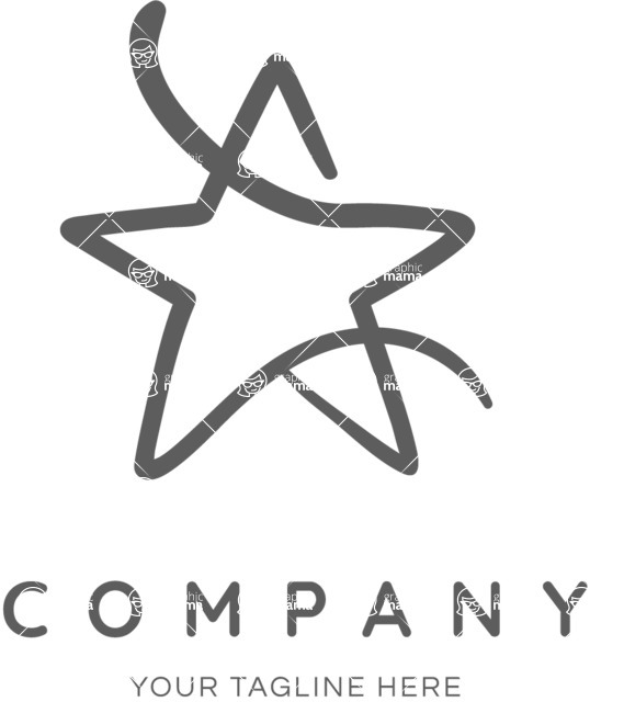 Business Logo Templates - vector graphics in a pack from GraphicMama - Star logo company black