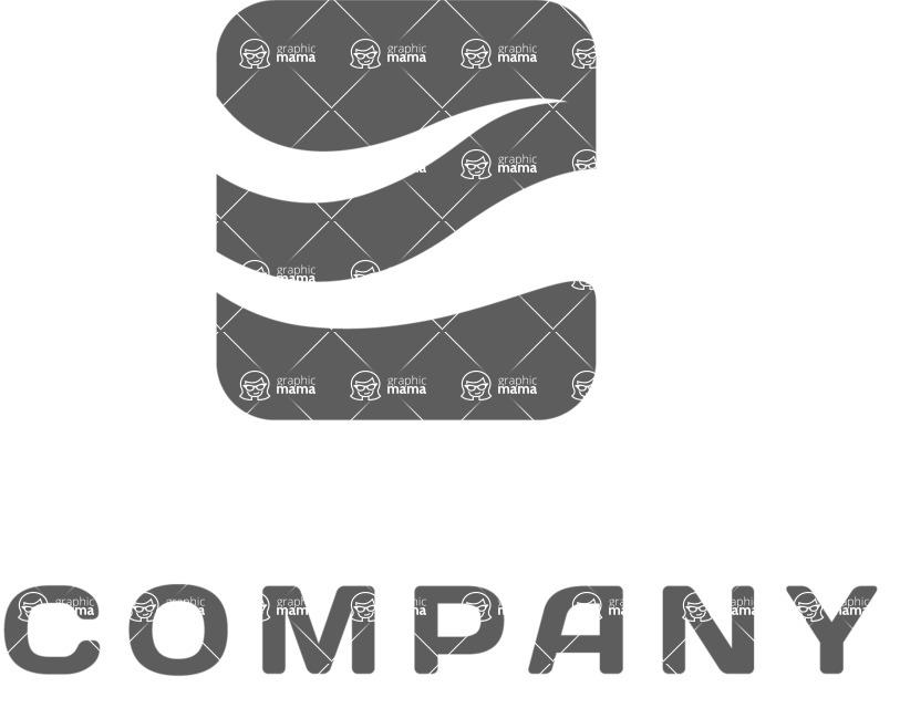 Business Logo Templates - vector graphics in a pack from GraphicMama - Ocean company logo black